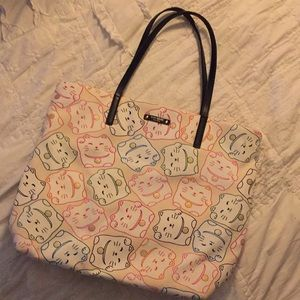 Lucky Cat Kate Spade Bon Shopper tote bag